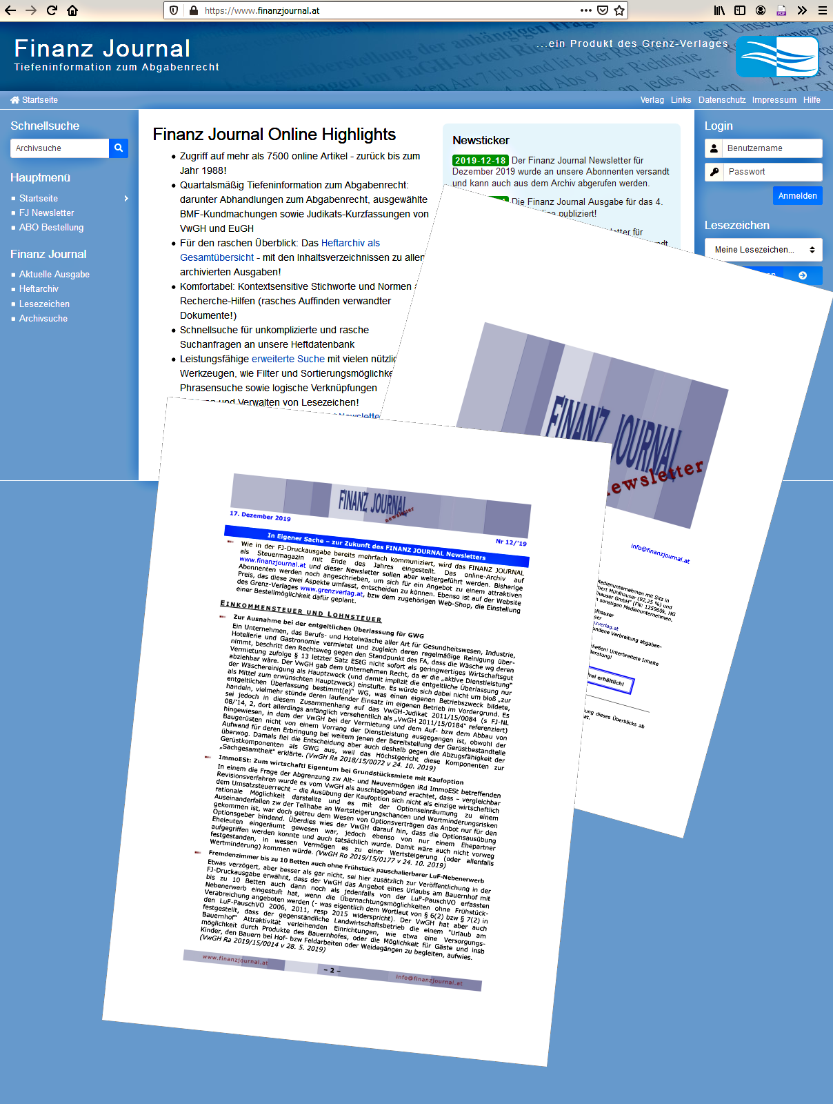 FinanzJournal Cover